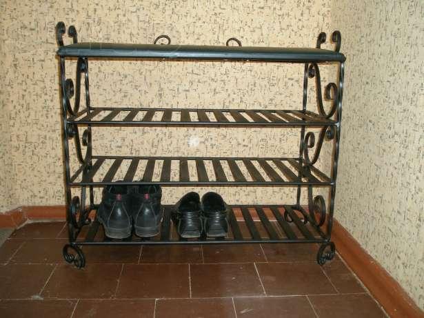 Полка для обуви из металла своими руками