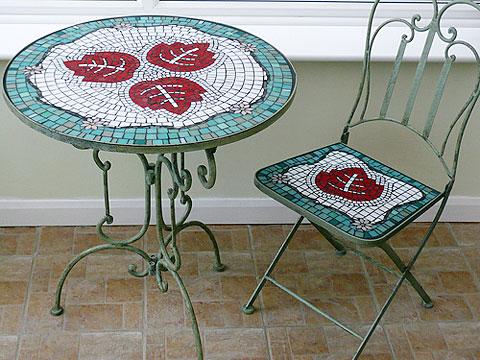 Стол с мозаикой своими руками