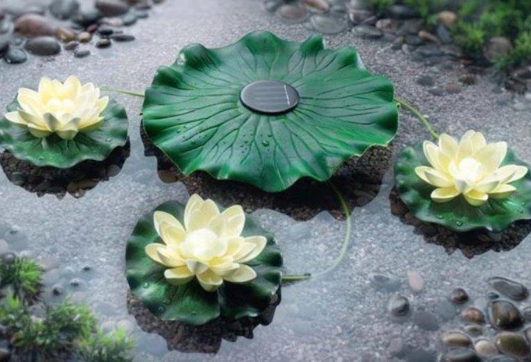 Цветок для водоема своими руками