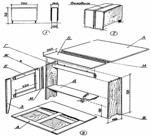 Обеденный стол своими руками схема 659