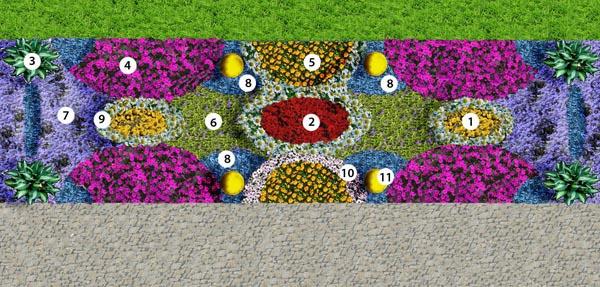 Цветовая схема рабатки