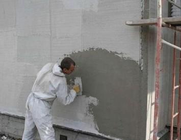 Штукатурка бетонных стен методом «набрызга» своими руками 56