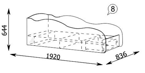 Схема кровать машинки