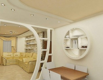 арка из гипсокартона фото своими руками на кухне
