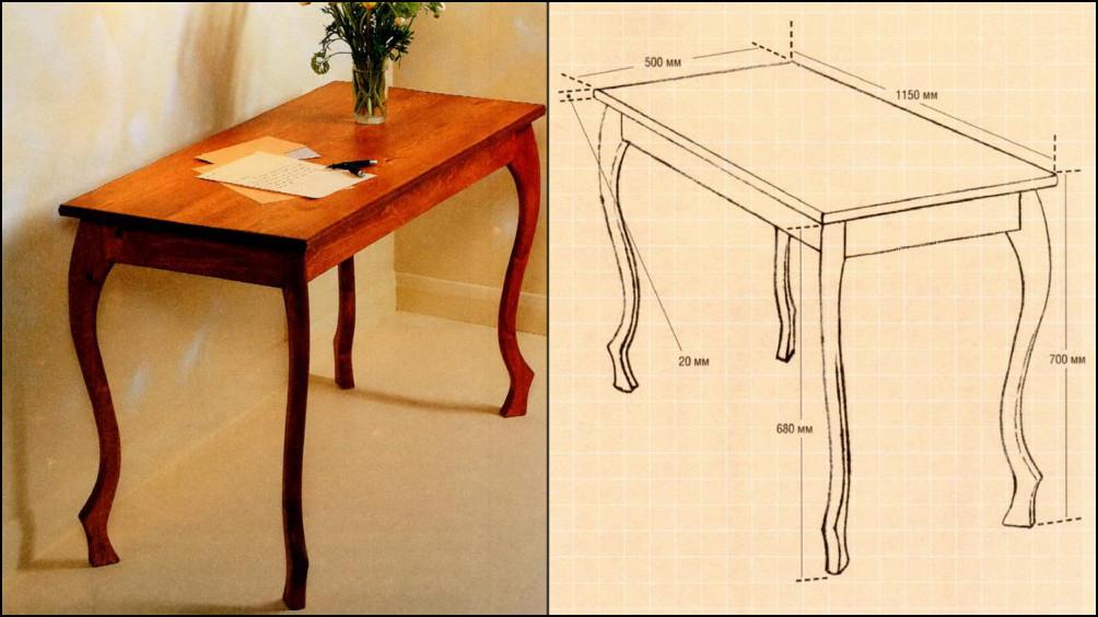 Сделать стол на ножках своими руками