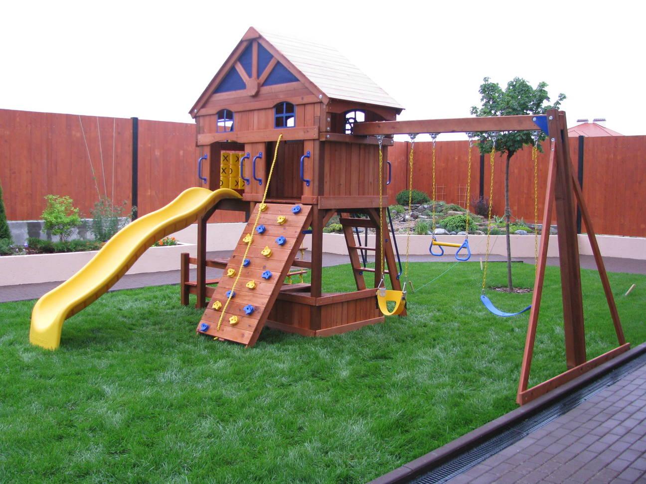 Проект детских площадок на даче своими руками