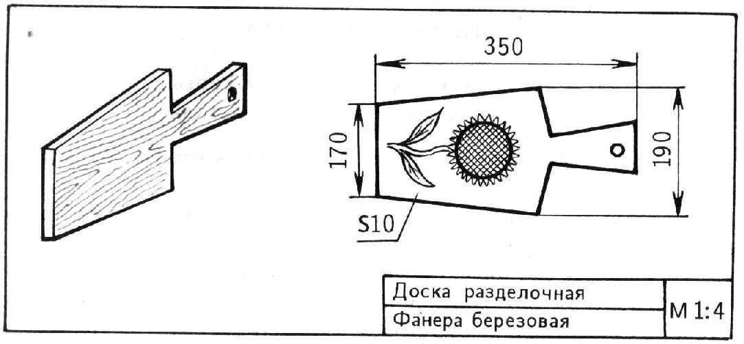 Разделочные доски из фанеры чертежа