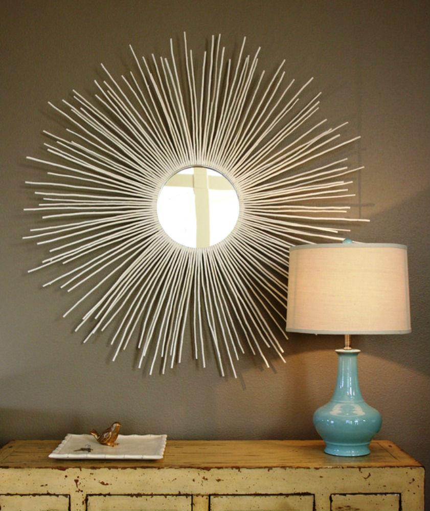 Круглое зеркало солнце