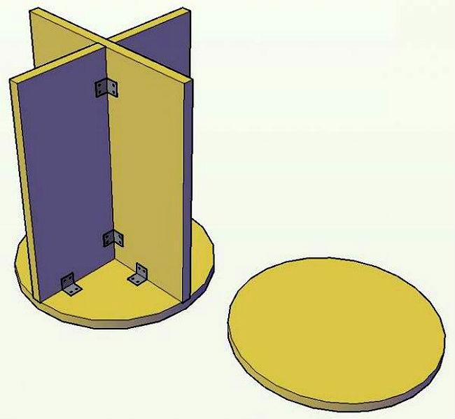 Как сделать пуфик из дсп своими руками