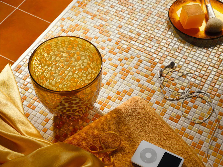 Мозаика битой плитки в ванной своими руками