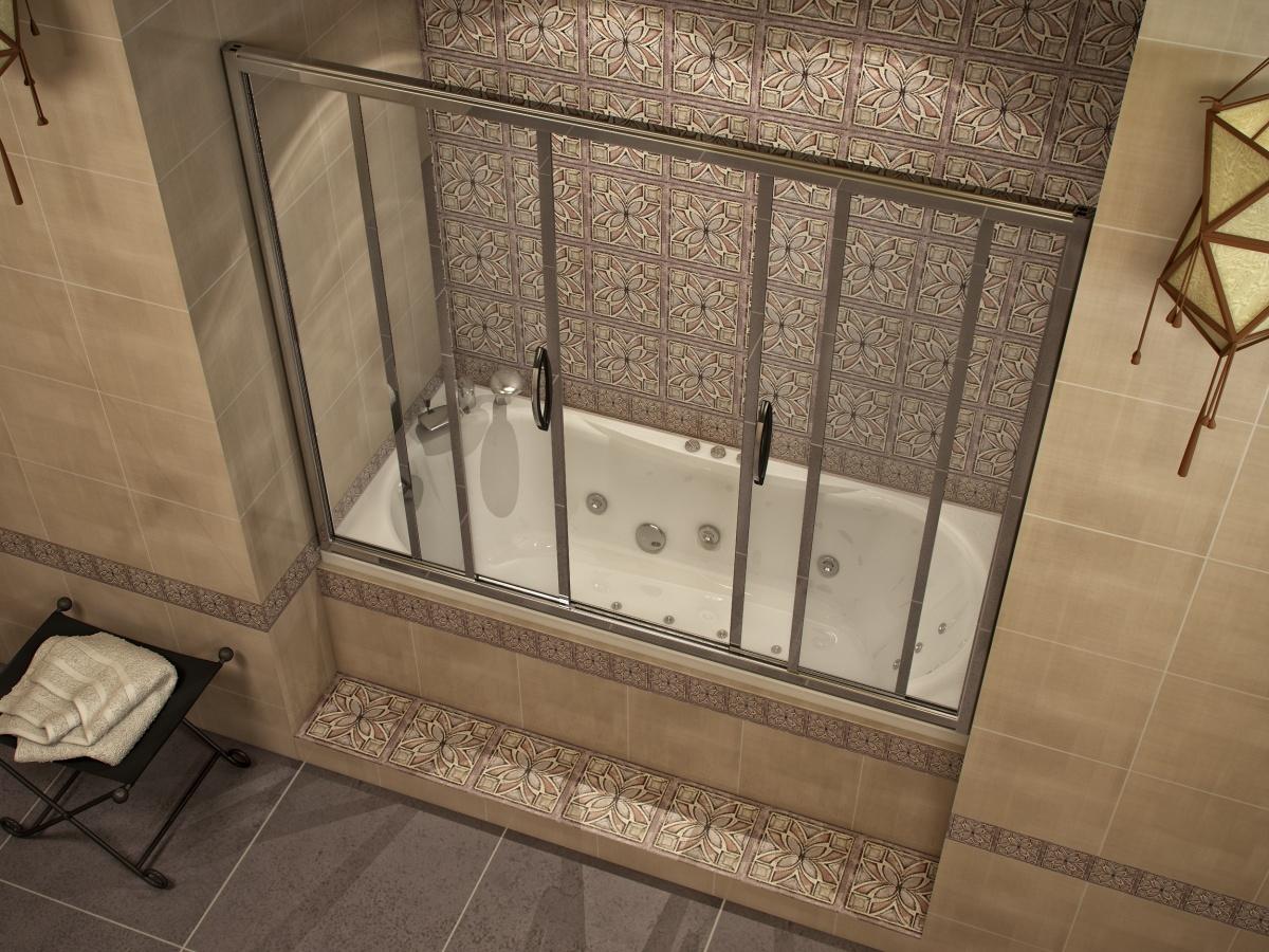 Штора для ванной раздвижная