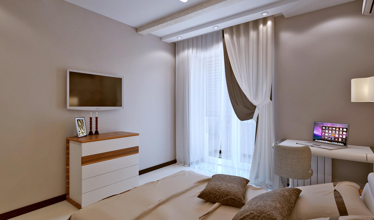 Дизайн проект спальни фото