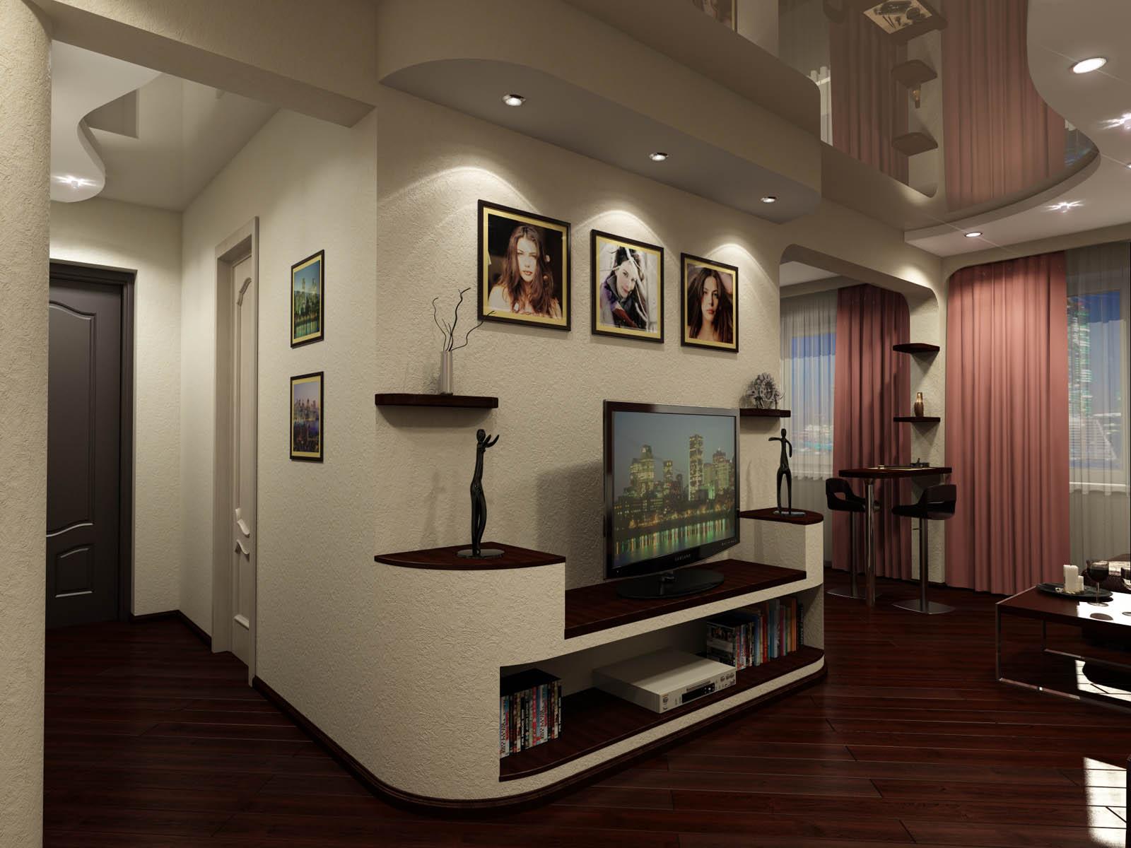 Дизайн прихожей и гостиной фото