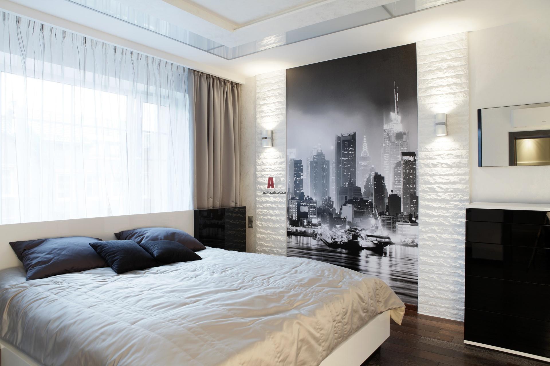 Белый интерьер спальни фото