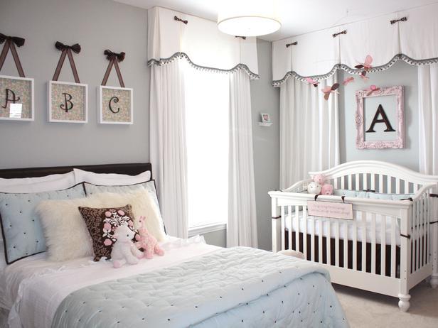 Спальня с кроваткой для малыша