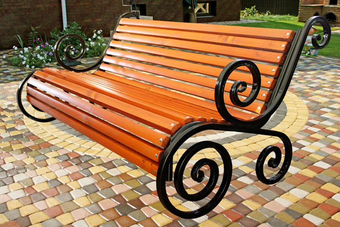 Скамейка уличная металлическая своими руками