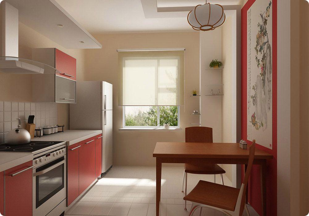 9 кв.м. кухня дизайн интерьера фото