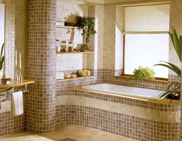 Оформление ванной комнаты: дизайн 79