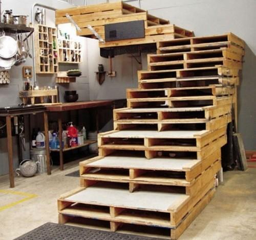 Оригинальные лестницы своими руками