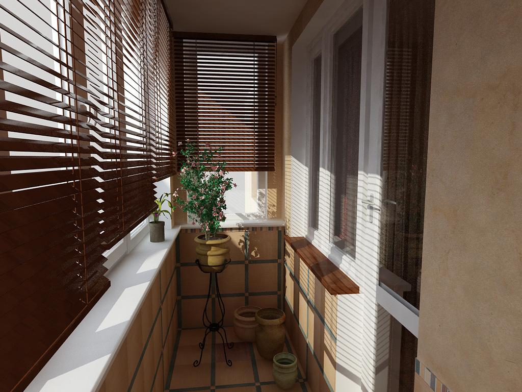 Дизайн балконных дверей в обычной квартире.