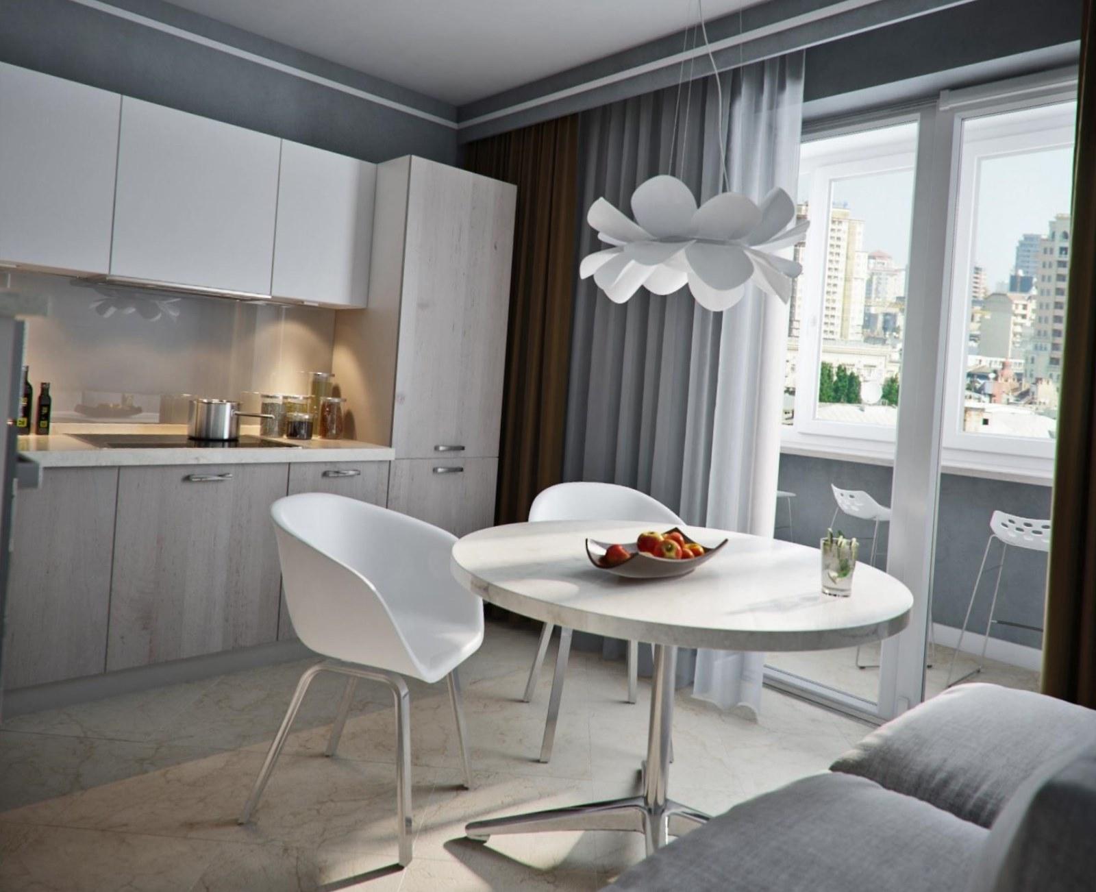 Кухня совмещенная с балконом: особенности планировки и дизай.