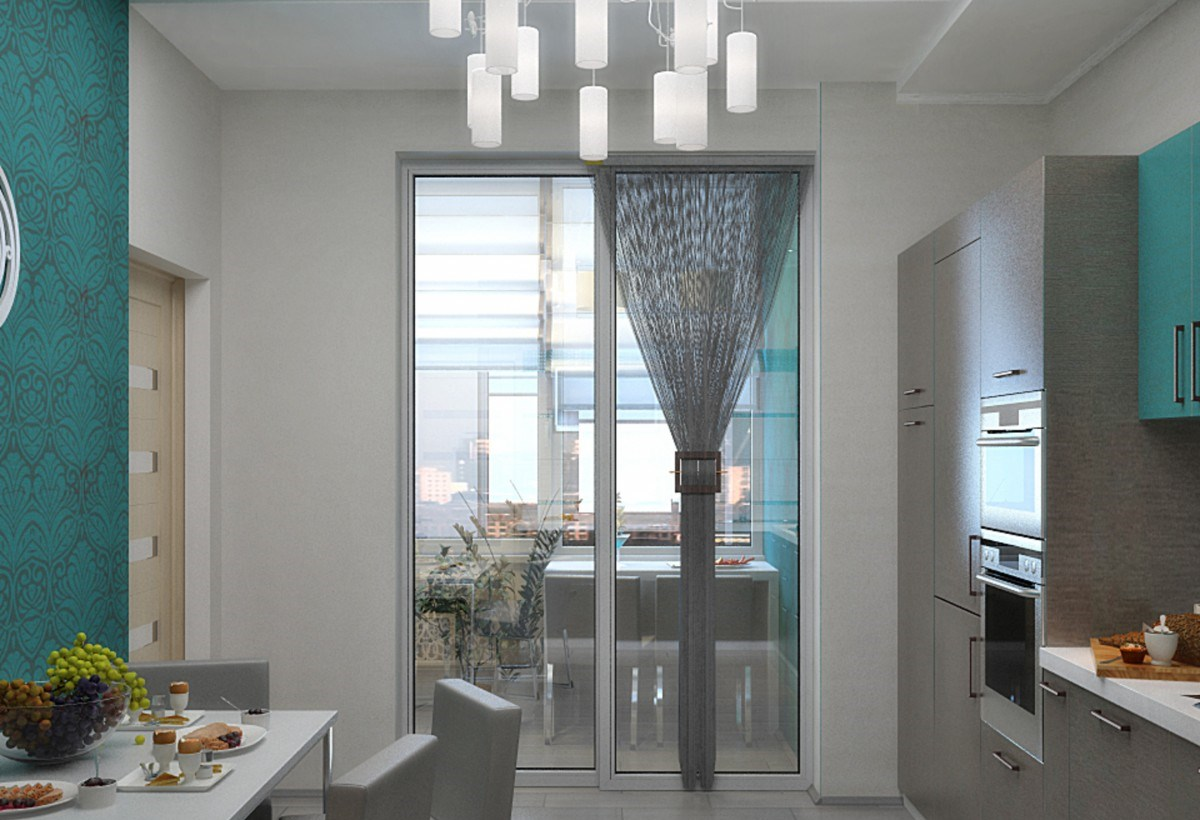 Объединить кухню с балконом идеи..