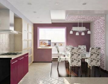 Соединить балкон с кухней дизайн