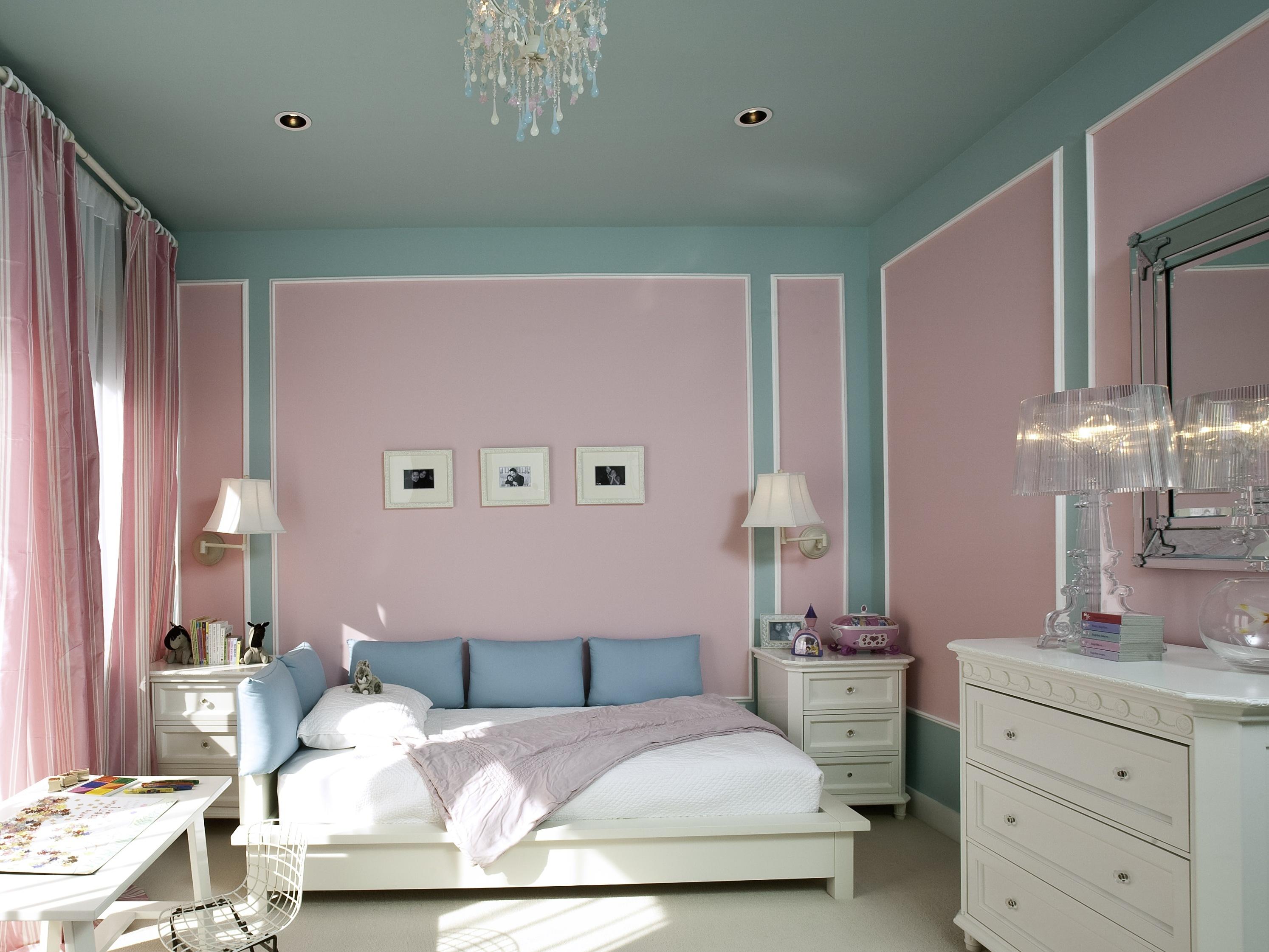как покрасить комнату в два цвета фото