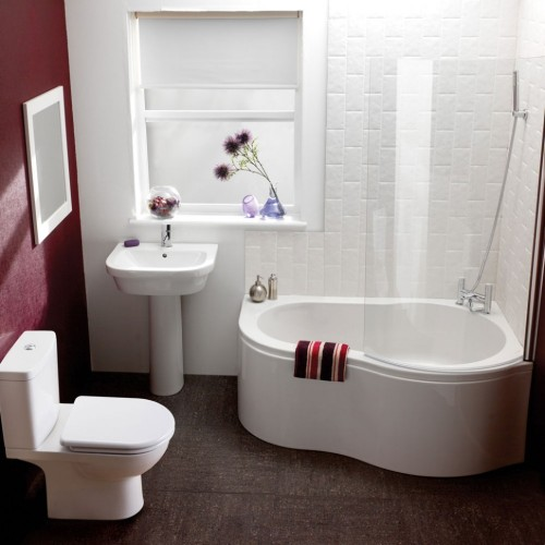 ideas-small-bathroom-remodeling-idea-with-white-combined-pink-wall-paint-color-and-unique-white-bathtub-design-and-calm-white-stylish-sink-idea-and-quite-white-toilet-set-and-fresh-flowers-vase-43-ca