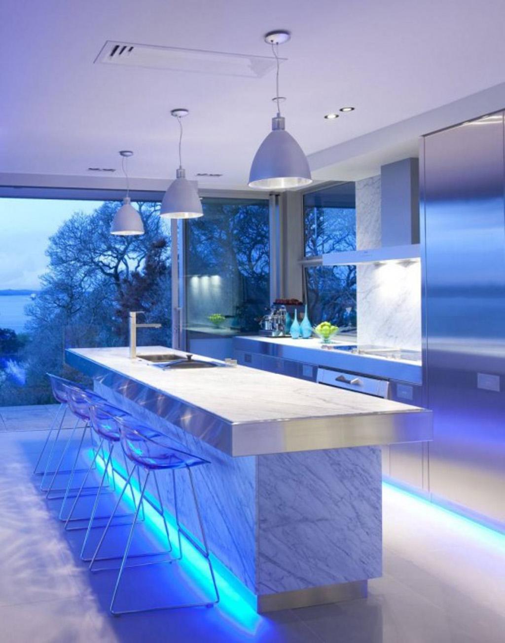 Iluminacion cocina moderna