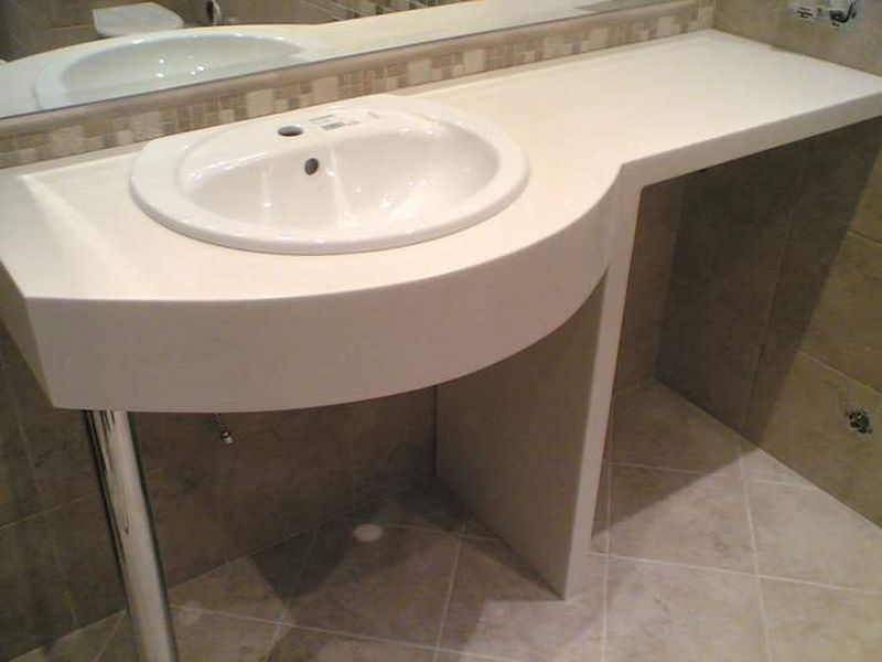 Красивая столешница для ванной столешница оцинкованая