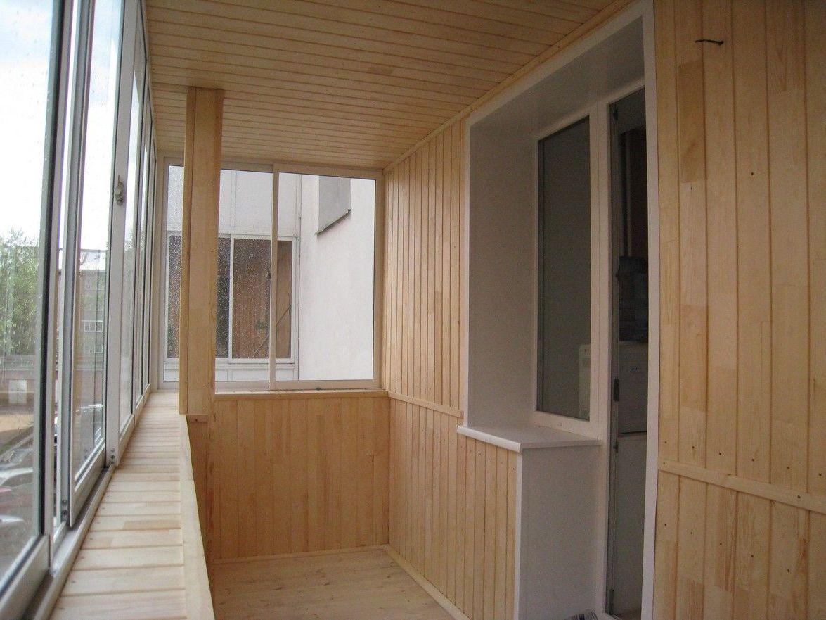 Как сделать отделку балкона.