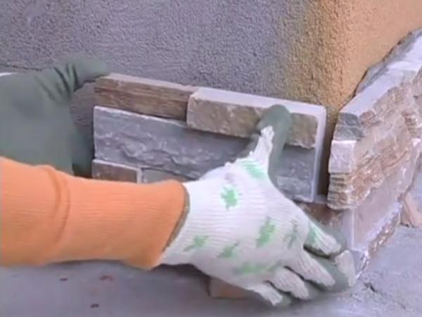 Как сделать внутренний угол из искусственного камня