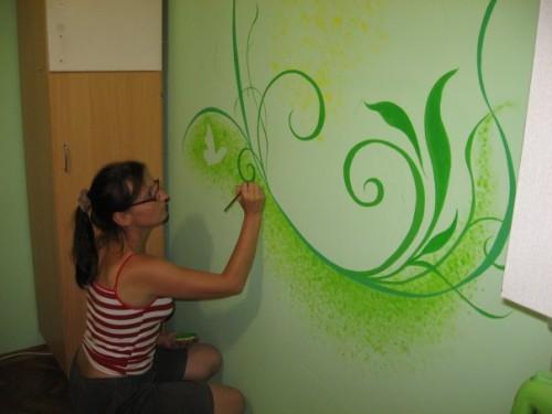 Как красиво покрасить стены 152