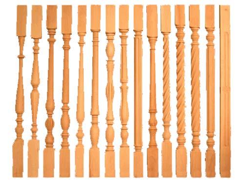 Балясины, столбы для деревянных лестниц в Родниках