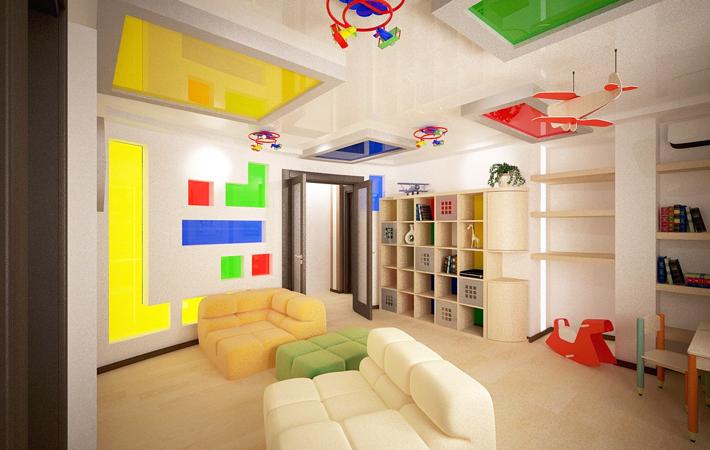 Потолок в детскую комнату