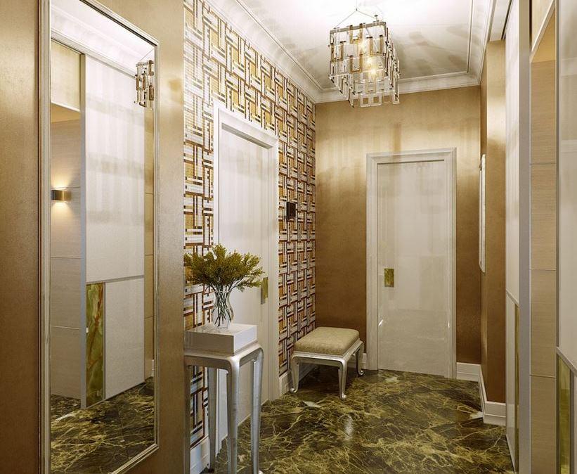 Дизайн коридора холла в квартире