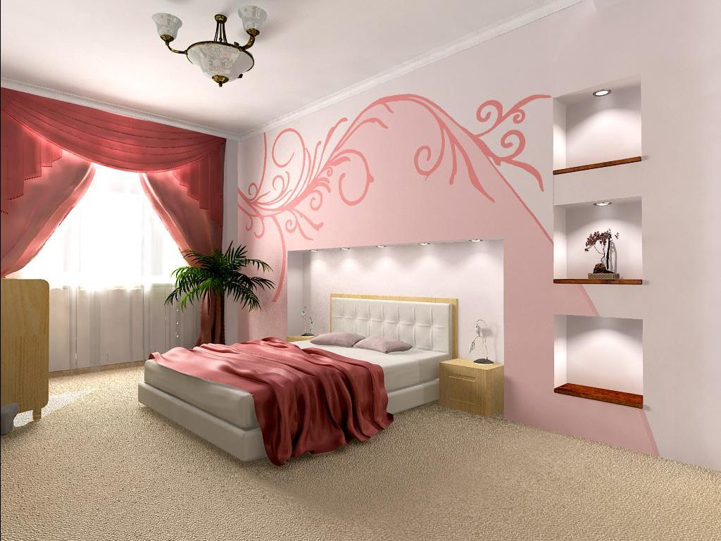 как оформить стены в спальне фото