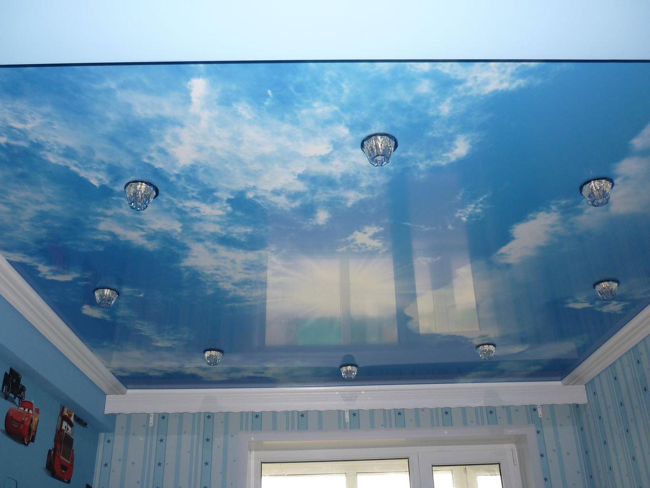 фото потолок в детскую натяжной