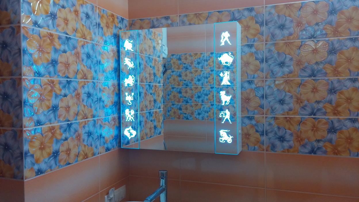 Шкафчик с зеркалом для ванной своими руками фото 406