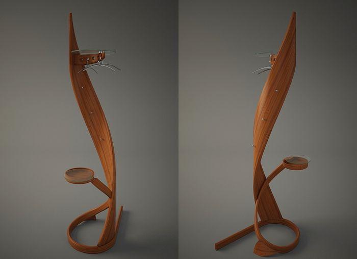 Вешалка напольная деревянная