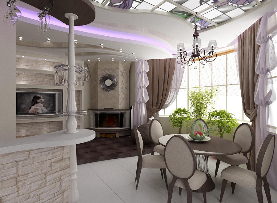 Кухня столовая интерьер