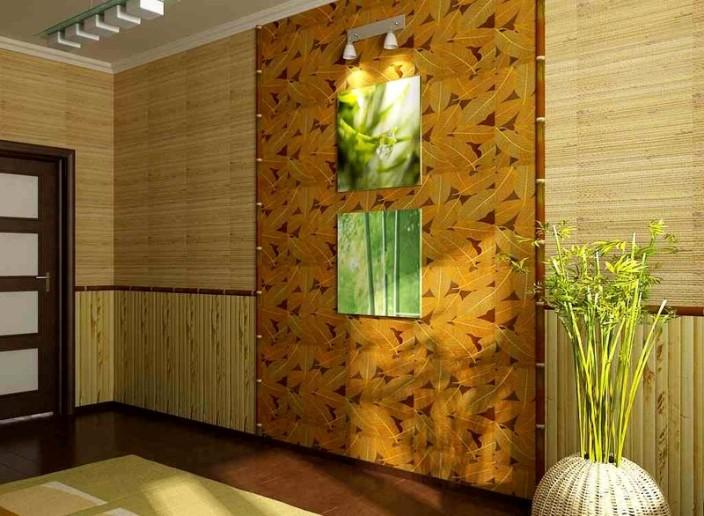 Бамбуковое в интерьере фото
