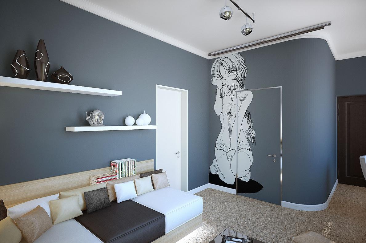 Фото серая комната