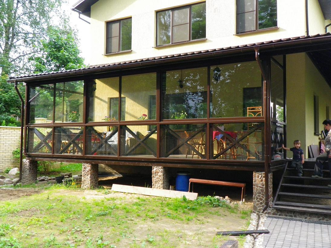 Остекление деревянного дома своими руками