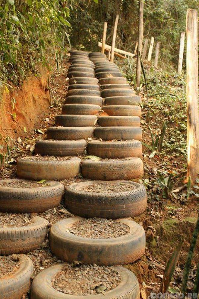 Садовые дорожки из отходов