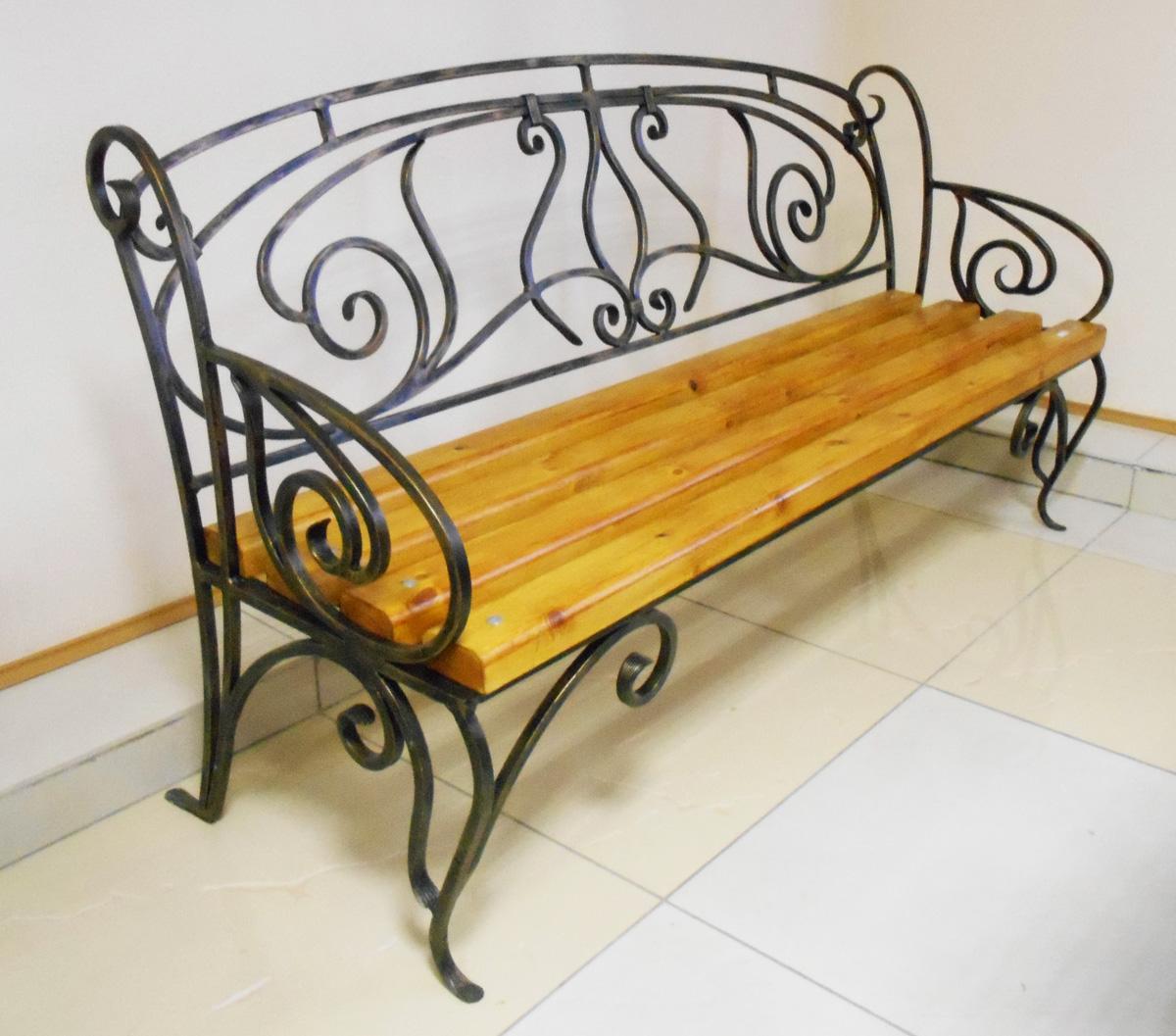 Кованые скамейки своими руками фото 671