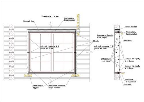 как установитьпластикове окна в брусовом доме