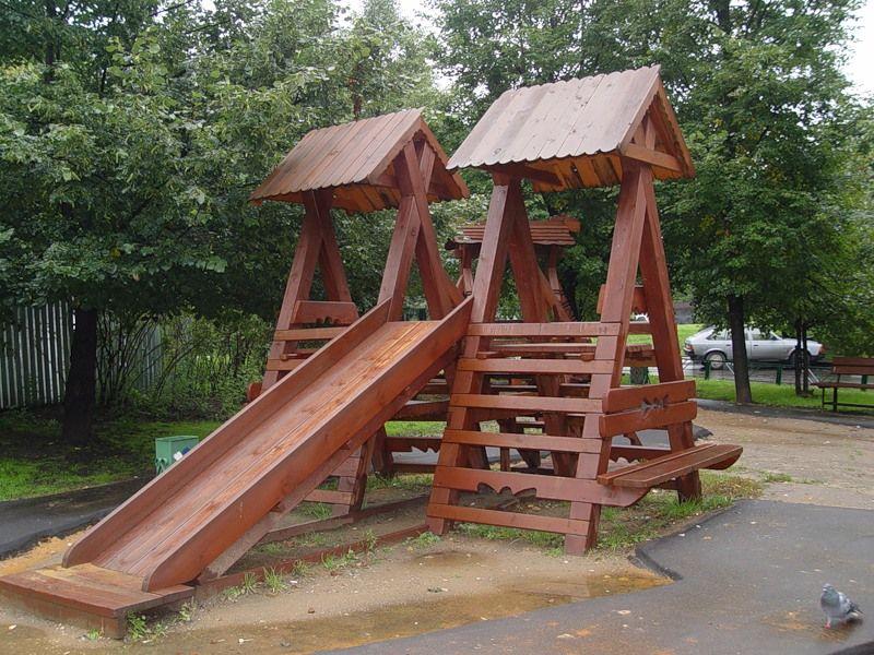 Изготовление детских площадок из дерева своими руками