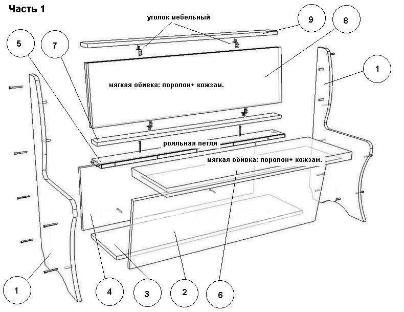 Чертежи для изготовления мебели своими руками